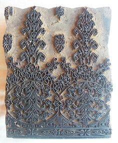 Old hand-carved wooden textile print block art. $183. Insane price. I generally see them for 45.  ~ETS Textiles, Textile Prints, Block Art, Old Hands, Wood Stamp, Wooden Blocks, Block Prints, Wood Print, Kurti