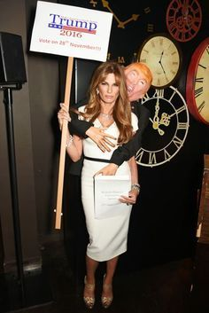 Celebrity Halloween Costume Inspiration - Jemima Khan as Melania Trump