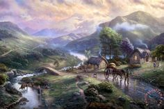 Emerald Valley by Thomas Kinkade