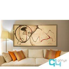 Tual Adalar örnek daire salonundan... Tasarım: #Gonyetasarim Tablo: @essydesign