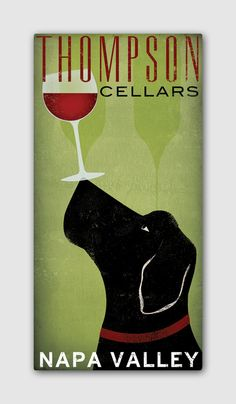 Ok...now you are killing me....WINE!!   LABRADOR Cellars Vineyard Wine Company Stretched by nativevermont, $79.00
