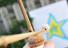 Homemade bow and arrow- great outdoor summer activity via Imagine Childhood