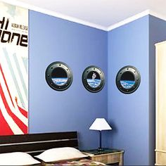 Galaxy Porthole Wall Decal Spaceship Graphics Decals Kids Fun - Portal 2 wall decals