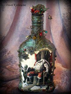 Новогодний декор бутылок, 2012 год