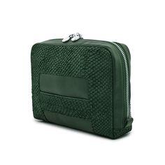 Green Lilli salmon leather shoulder bag clutch 3599 Bag Making, Leather Shoulder Bag, Suitcase, Salmon, Handbags, Studio, Green, Totes, Leather Shoulder Bags