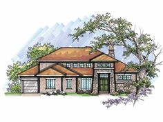 Traditional House Plan with 2855 Square Feet and 4 Bedrooms from Dream Home Source | House Plan Code DHSW66015