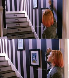Hayley Williams - Staircase - Shot of Her L.A. Home from the Kiss Off series on Popular TV