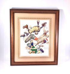 """Excited to share this item from my shop: Wood Framed and Matted Norman Rockwell Print """"First Down"""" Vintage Office, Vintage Home Decor, First Down, Norman Rockwell, Study, Football, Etsy Shop, Bedroom, Handmade Gifts"""