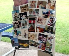 How to make a traditional funeral memory board #DIY