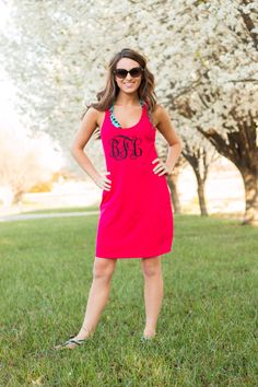 Large Monogram Racerback Swim Cover Up/Casual Dress/Sleep Shirt by SouthernTradeMark on Etsy https://www.etsy.com/listing/230193713/large-monogram-racerback-swim-cover