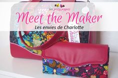 Meet the Maker - Les envies de Charlotte - Andrie Designs Paper and PDF bag patterns Handmade bag Fabric Combinations, Handmade Bags, Lunch Box, Charlotte, Meet, Bag Patterns, Sewing, Paper, Pretty