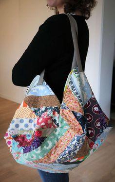 ᐅ Japanische Tasche nähen – Mit dieser Anleitung ganz einfach! sac à main louis vuitton Crochet Bag Tutorials, Sewing Tutorials, Origami Bag, Bag Pattern Free, Black And White Baby, Diy Handbag, Patchwork Bags, Simple Bags, Fashion Handbags