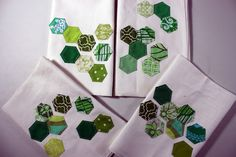 Hexagon hand towels, which I will steal to make into napkins.