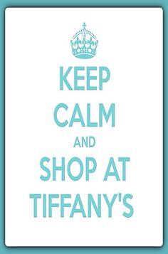 Keep calm and shop . . .