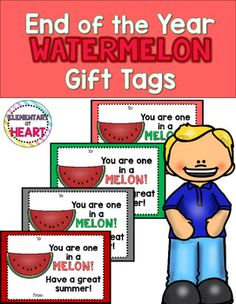 #watermelon #one #in #a #melon #elementary #tpt #tptpins #gift #tags #summer #june #lastday #fun #printables