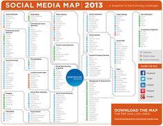 Social Media Map 2013 #SMM