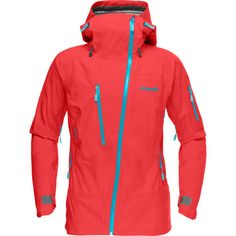 Norrona Lofoten Gore-Tex Active Shell Jacket - Women's, waterproof, windproof, breathable. I LOVE the assymetrical zip, no more frozen zipper chin!