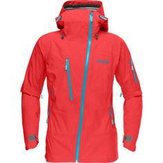 Norrona Lofoten Gore-Tex Active Shell Jacket - Women's, waterproof, windproof, breathable. I LOVE the assymetrical zip, no more frozen zipper chin!