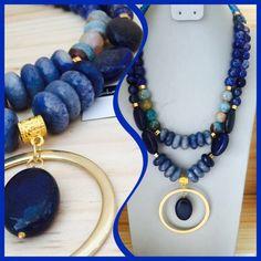 21f280f691e6 Collar y Aretes Mix de piedras semipreciosas - Ágatas