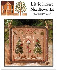 cross stich pattern 'cardinal winter'