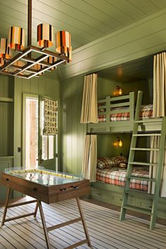 If you've already decided you want to spotlight green or you still need some convincing and inspiration, you're in the right place. We're showcasing designer green bedrooms that set the gold standard for decorating with this nature-inspired color. Keep reading to see how this versatile anchor color can transform just about any bedroom, no matter where it is—an estate, city apartment, or even a mountain chalet. Room Paint Colors, Paint Colors For Living Room, Bedroom Colors, Bedroom Ideas, Girls Bedroom, Green Rooms, Bedroom Green, Modern Living Room Paint, Bunk Beds Built In