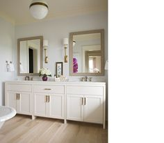 angie does a great job with the transitional bath...might have to use her for inspiration