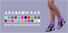 Anarchy-Cat: Madlen`s Kyoto Shoes • Sims 4 Downloads