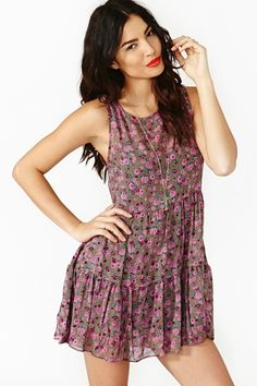 Tiered floral dress. Perfectly comfortable for summer!