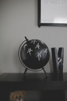 Black Chalkboard Globe - perfect in a black and white nursery! | Project Nursery