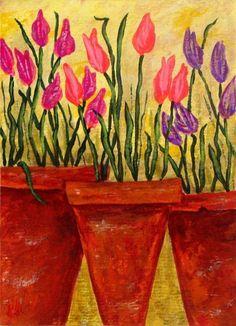 Log in to your Etsy account. John Blake, Terracotta Flower Pots, Terra Cotta, Tulips, Original Paintings, The Originals, Flowers, Etsy, Art