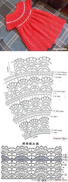 Ropa para bebes crochet Baby Hats Knitting, Baby Knitting Patterns, Crochet Patterns, Crochet Hats, Crochet Girls Dress Pattern, Baby Dress Patterns, Crochet Baby Clothes, Crochet Diagram, Crochet For Kids