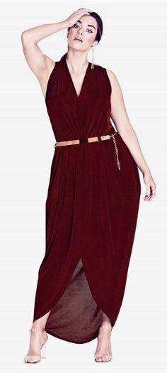 Plus Size Slink Maxi Dress