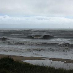 Heavy surf post #hurricanehermine #outerbeaches #hatterasfun #hatteras #island…