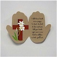 Handprint Easter Prayer Craft