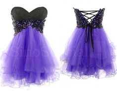 Cheap Fantastic Purple Lace Ball Gown Sweetheart Short Mini Prom Dress/Homecoming Dress