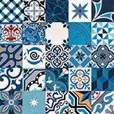 Patchwork bleu MOSAIC DEL SUR