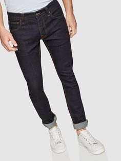 MARTY RINSE WASH DENIM JEANS   BLUE DARK - Oxford Shop Mens Trousers Casual, Trouser Suits, Denim Jeans, Black Jeans, Oxford Online, Polo Tees, Slim Man, Workwear, Workout Shirts