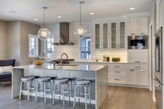 Bright and white kitchen!