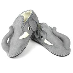 Elephant Slippers Adult Large - Fair Trade - #fairtrade #thisbluesea #shopfairtrade #felt #felted #shoes #footwear #slippers #booties #men #women #Apparel #boots  These adult slippers are stitched into amazing animals; making for a one-of-a-kind unique slipper. The soles are 100% rubber, and the uppers are 100% sheep's wool. Large size fits Women's 9-10 or Men's 8-9  Meet the Artisans  The Silk Road Bazaar Silk Road Bazaar is a wholesale representative of marginalized artist groups located…