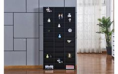 CD DVD Shelving Unit Storage Adjustable Shelf Rack Bluray Video Games Book Black