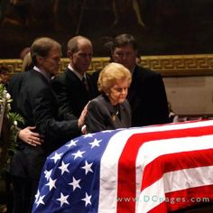 1977: Betty Ford mourning her husband,  former President Gerald Ford.