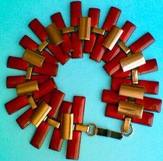 MATISSE RED COPPER ENAMEL BRACELET  http://www.ebay.com/itm/vintage-signed-Matisse-red-enameled-copper-bracelet-Peter-Pan-style-/261236347145?pt=Vintage_Costume_Jewelry=item3cd2e65109
