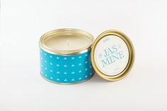 "Green Blu - ""WAKS"" Tin Candle Jasmine 300gr"