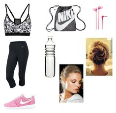 """#sport #deporte "" by paulamodeloguapa-1 ❤ liked on Polyvore featuring NIKE, Dot & Bo, Sony and Roberto Cavalli"