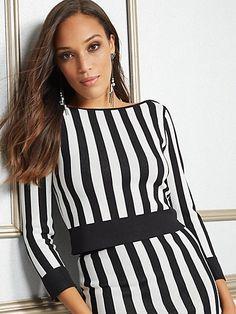 9e4fcb6cf45 Eva Mendes Collection - Marcy Stripe Sweater - New York   Company Eva  Mendes Collection