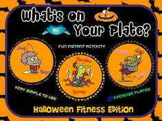 """PE Activities: """"What's on Your Plate""""- Halloween Fitness Edition"""