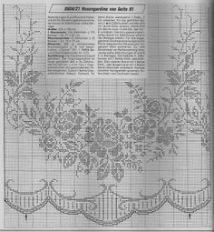Kira scheme crochet: Search results for curtains Filet Crochet Charts, Crochet Borders, Crochet Cross, Crochet Stitches, Crochet Curtains, Crochet Tablecloth, Crochet Doilies, Crochet Lace, Crochet Decoration