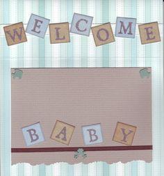 Welcome Baby Boy Inside - Scrapbook.com