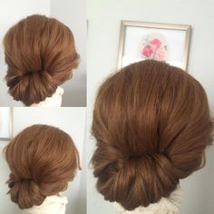 """""""simple, chic side upstyle...I find that most brides feel most comfortable with some hair showing from the front, that's why I adore side upstyles! #updo…"""""""