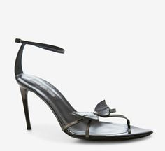 Butterfly Sergio Rossi Black And Gunmetal Sandal